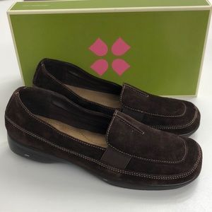 Naturalizer Connie Brown Suede Wedges 8 M NEW